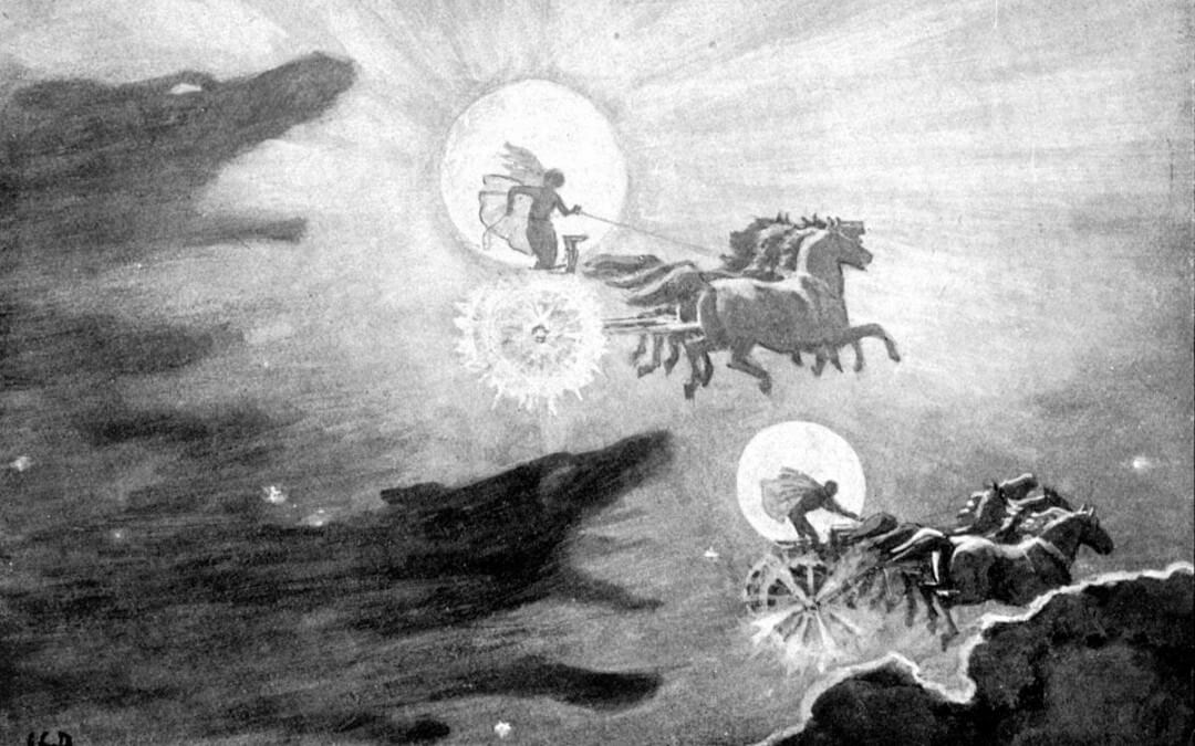 Sun and Moon in Germanic myth