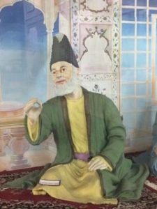 Ghalib depicted in the Diorama at Ghalib Institute