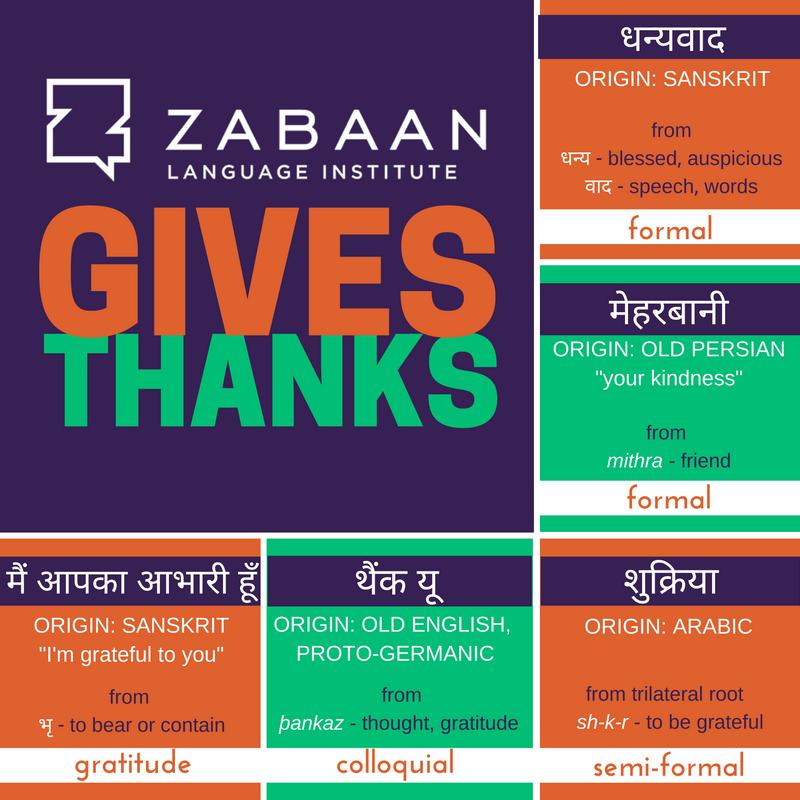 Thank you in Hindi!
